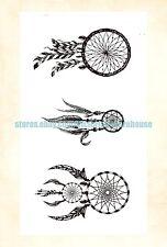 US Seller- North American native dreamcatcher temporary tattoo fake tatto