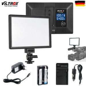 1/2x Viltrox L116T 15W Studio Dimmbar LED Videoleuchte Videolicht 3300K-5600K