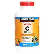 Kirkland Signature Chewable Vitamin C 500mg, 500 Tablets