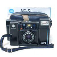 Minolta AF-S 35mm f/2.8 Retro Rangefinder Film Camera w/ Case & Manual Excellent