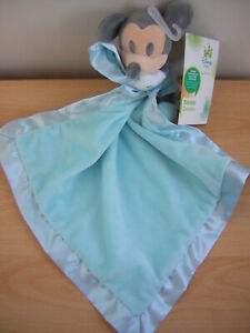 DISNEY STORE BLUE MICKEY MOUSE COMFORTER SOFT TOY