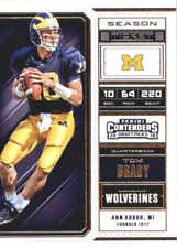 2018 Panini Contenders Draft Picks #94 Tom Brady Michigan Wolverines