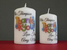 Thank You Teacher Teacher's Assistant Friend Gift Present Personalised Candle