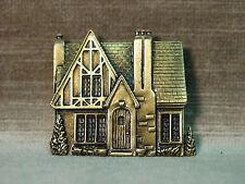 """""""JJ"""" Jonette Jewelry Bronze Pewter 'TUDOR Cottage House' Pin"""