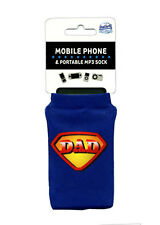 Dad Mobile Phone Holder Sock Super Dad Great Father's Day Gift