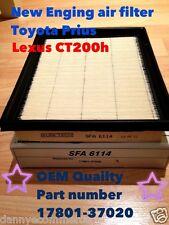 Engine Air Filter TOYOTA PRIUS,LEXUS CT200H NX300H 10-15,17801-37020 OEM quality