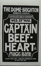 CAPTAIN BEEFHEART The Dome- Brighton 1972 UK ORG CONCERT Flyer MAGIC BAND