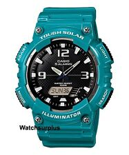 Casio AQS810WC-3A Men's Turquoise Solar Analog Digital World Time Sports Watch