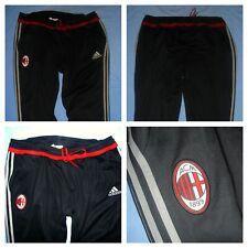 AC Milan (Rossoneri) / mid 2010s - ADIDAS - MENS black Track pants. Size: 2XL