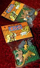 Plastique Zoo Set Animaux neuf dans sa boîte 70er Hong Kong/Piñata de très belle heinerle 10 pces