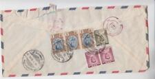 Interesting Thailand Registered Airmail Cover