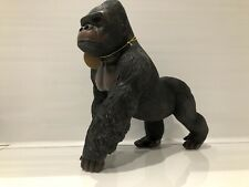More details for extra large silver back gorilla ape ornament figurine ornament gift present