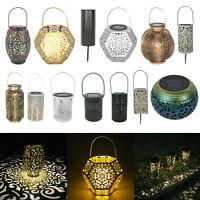 Solar LED Hanging Light Retro Lantern IP44 Outdoor Garden Atmosphere Lamp Decor