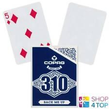 Copag 310 Arrière Me Up Poker Cartes à Jouer Pont Papier Standard Index Bleu New