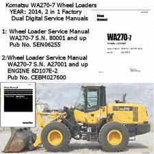 Komatsu WA270-7 2014 Wheel Loader Service Manual  Workshop Repair 2 in 1 PDF CD