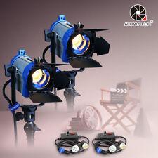 150W*2+dimmer*2 Fresnel Tungsten Spotlight Lighting Studio Video+Barndor camera