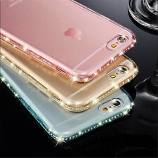 Diamond Glitter Bling Soft TPU Phone Case Sparkling Cover For iPhone 5S 8 X Plus