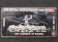1971 Kennedy Mint The Colossus of Rhodes Silver Art Bar KEN-16 P1676