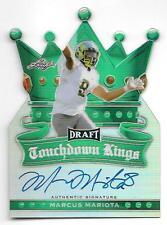 2015 Leaf Metal Draft Touchdown Kings Green Marcus Mariota Autograph #06/10