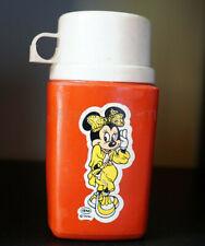 Mexican Mexico vintage plastic thermo 10.5 Oz w/ Minnie Mouse CIPSA DISNEY 1970s