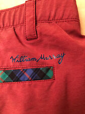 William Murray Straight Fit Golf Shorts Size 36X11in dark red color men's