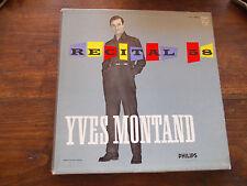 Yves Montand récital 58 - philips L2L 0050