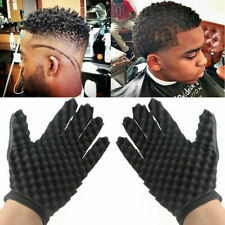 Barber Hair Brush Sponge Glove Locking Afro Curl Twist Dreads Coil Wave Braids
