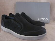 ECCO Mens Ennio Black Leather Slip On Shoes Sneakers US 11 - 11.5 EUR 45 NWB