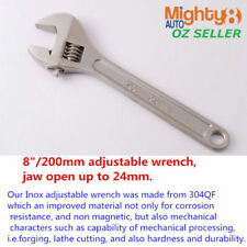 "304QF INOX Stainless Steel 8"" Adjustable Wrench Spanner Shifter Resist Corrosion"