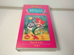 Disneys The Little Mermaid Whale Of A Tale Vol 1 VHS Good Used Condition