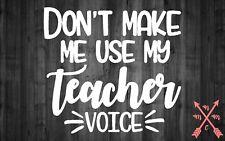 TEACHER VOICE APPLE SAYING QUOTE STICKER LAPTOP YETI CAR TUMBLER CUP MACBOOK