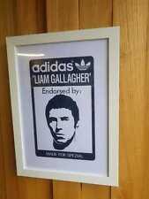 Adidas Spezial Endorsed by Liam Gallagher A3 Framed Art Screen Print