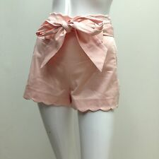 Forever New sz 6 Pretty Peach Scollop Edge Stretch Cotton Dress Style Shorts