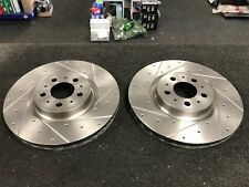 VOLVO S60 S60R V70 V70R 2.5 TURBO DRILLED BRAKE DISCS FRONT PAIR 330mm DIAMETER