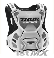 Thor Guardian Motocross Chest Protector Body Armour White Adults XLarge XXLarge