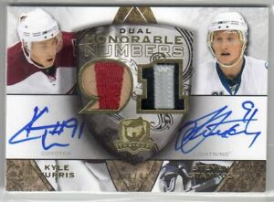 2008/09 STEVEN STAMKOS TURRIS CUP HONORABLE NUMBERS DUAL PATCH AUTO ROOKIE #/91