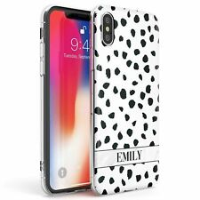 Personalised Name Dalmation Print Slim Phone Case for iPhone | Animal Print Dog