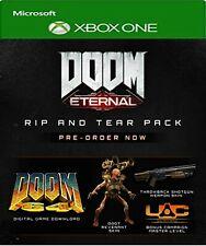 Doom eterno Pre-orden-XBOX DLC-Doom 64 + ONE RIP y desgaste no sólo Juego Completo