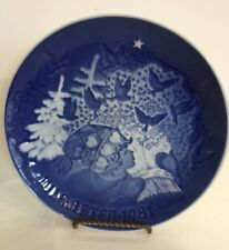 COPENHAGEN 1981 B & G Bing and Grondahl CHRISTMAS PEACE Decorative Plate