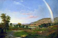 Landscape with Rainbow by Robert Duncanson. Fine Art Prints on Canvas or Paper