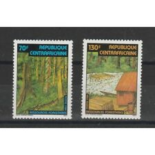 CENTRAFRICAINE CENTRAFRICANA 1984  FLORA PROTEZIONE FORESTE 2 VAL MNH MF58372