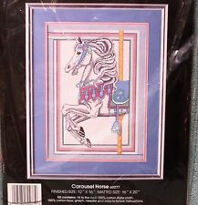 CAROUSEL HORSE cross stitch kit GOLDEN BEE opened