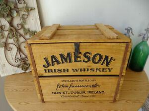 W1856 Holzkiste   Whisky Kiste mit Deckel   Vintage   Massivholz   IRISH WHISKEY