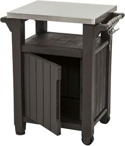 Keter Service-Tisch Unity Grill Beistelltisch Grilltisch Grillwagen 54x70x90 cm