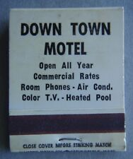 Down Town Motel Open All Year 704 4882134 Matchbook (MK1)