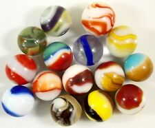 Lot of 15 Vintage Various Glass Marbles