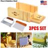 Adjustable Loaf Soap Cutter Wooden Box with Wavy & Straight Slicer Cutting Tools