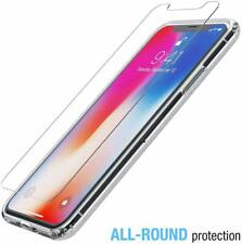 Clear Shockproof Back Cover for iPhone X  & Tempered Glass Screen Protector