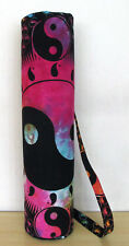 Indian Tie Dye Multi Mandala Yoga Mat Carrier Gym Bag With Shoulder Strap Throw