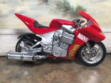 """Spiderman Motorcycle 2004 Diecast and Plastic Marvel Comics 4.25"""" in toy"""